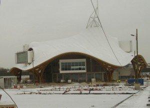Metz sous la neige  pompidou-neige1-300x216
